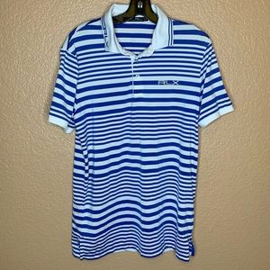 RLX Ralph Lauren Golf Polo Shirt White/Blue